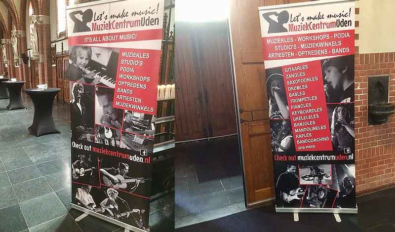 Roll-up banner Muziekcentrum Uden