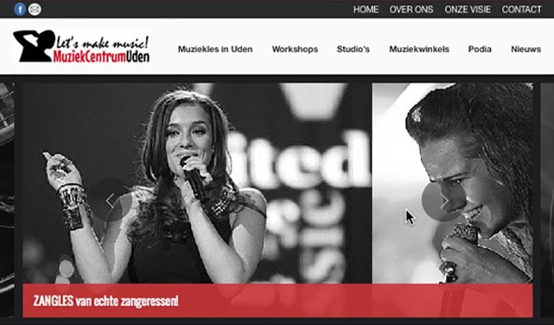 Website Muziekcentrum Uden