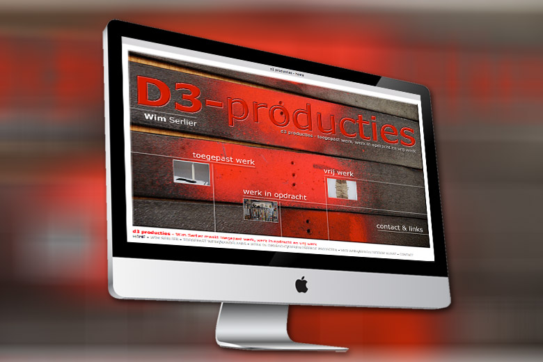 D3-Producties website