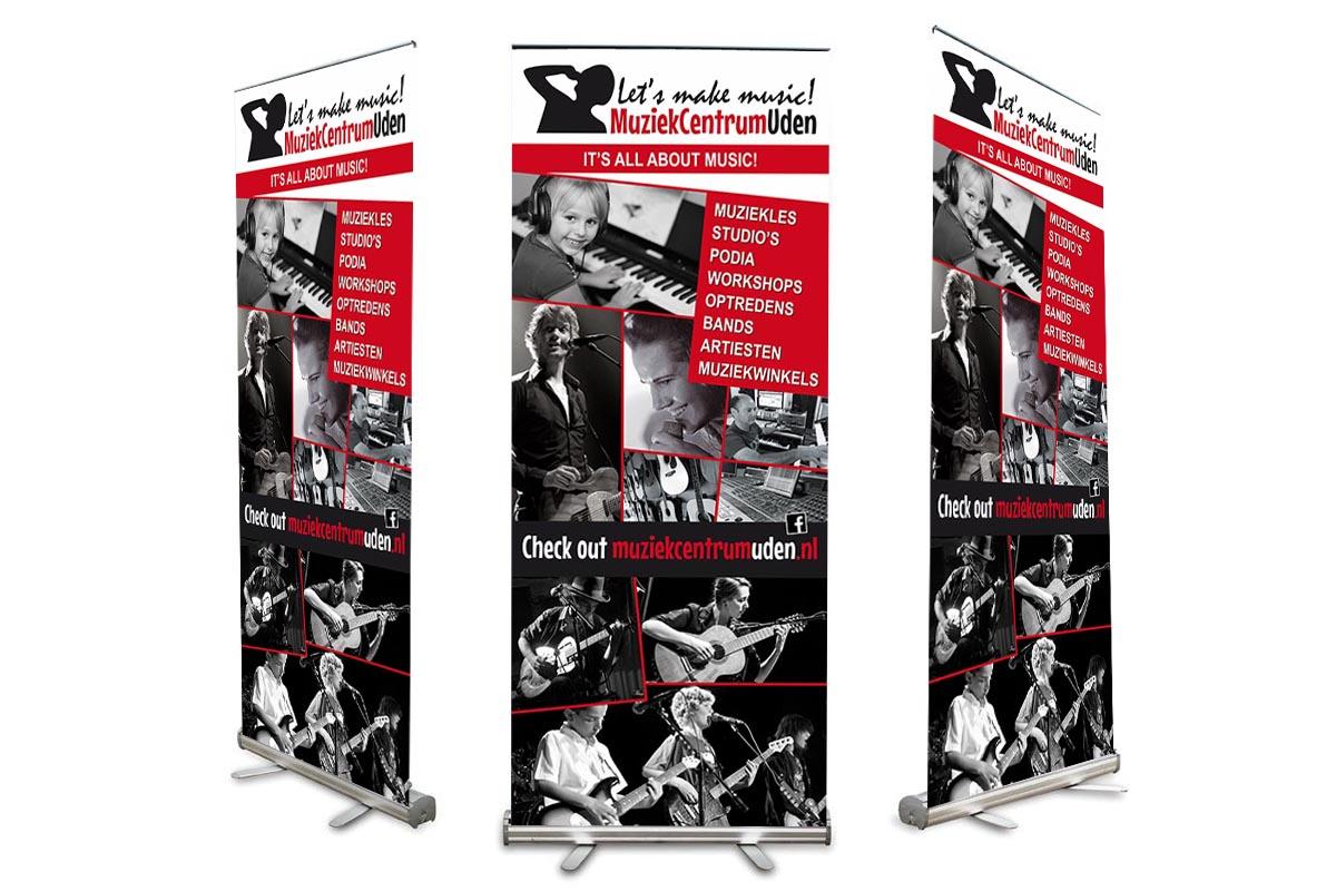 Roll-up banner 1 Muziekcentrum Uden