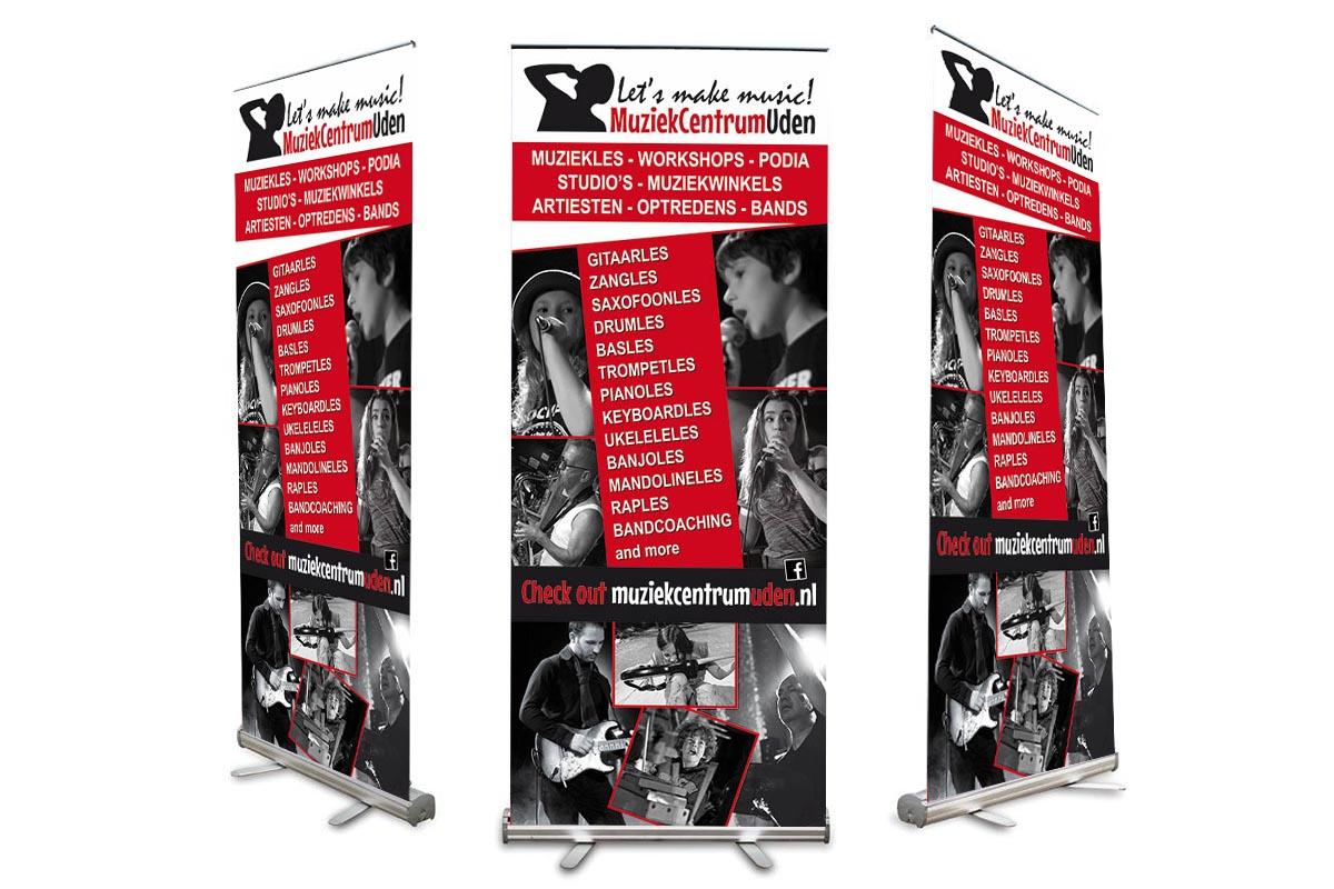 Roll-up banner 2 Muziekcentrum Uden