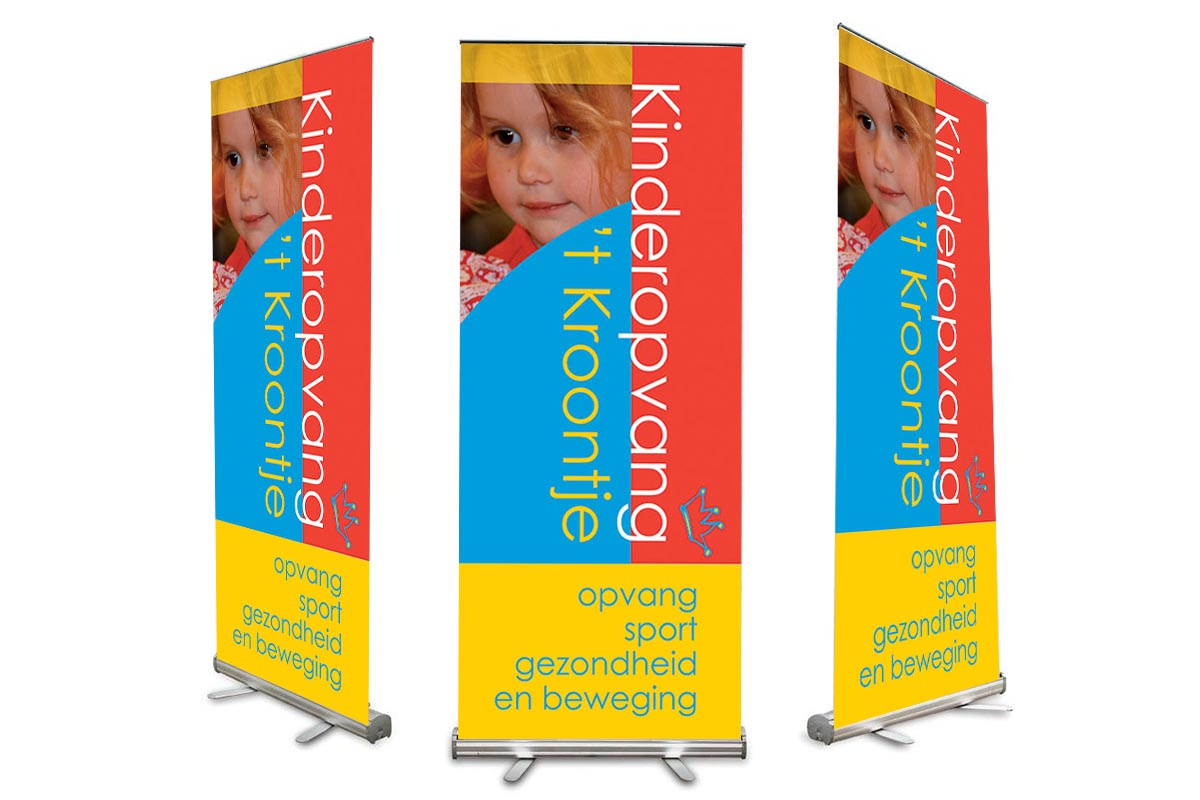 Roll-up banner Kroontje Veghel