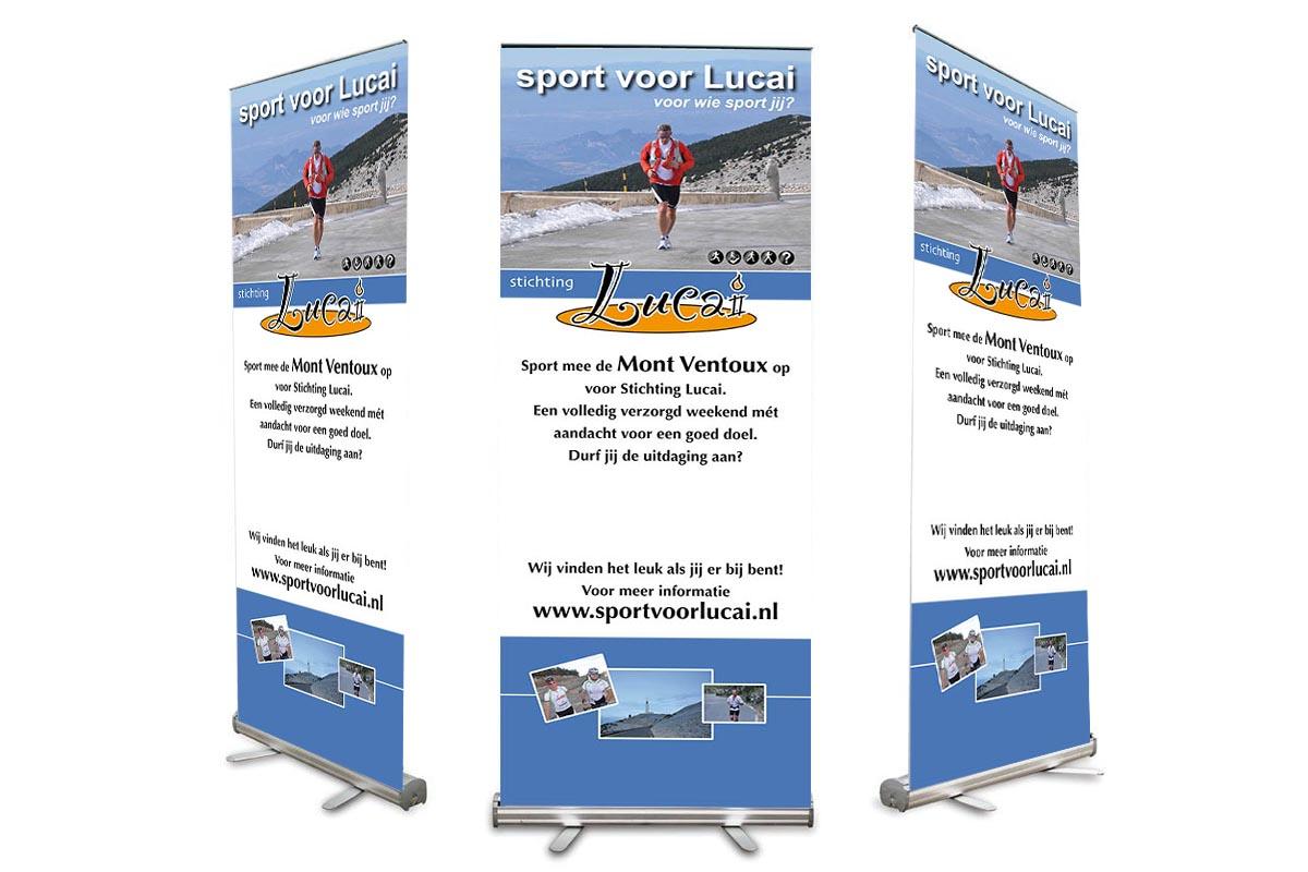 Roll-up banner Sport voor Lucai
