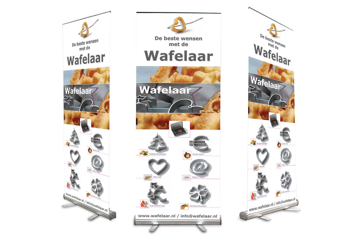 Roll-up banner Wafelaar
