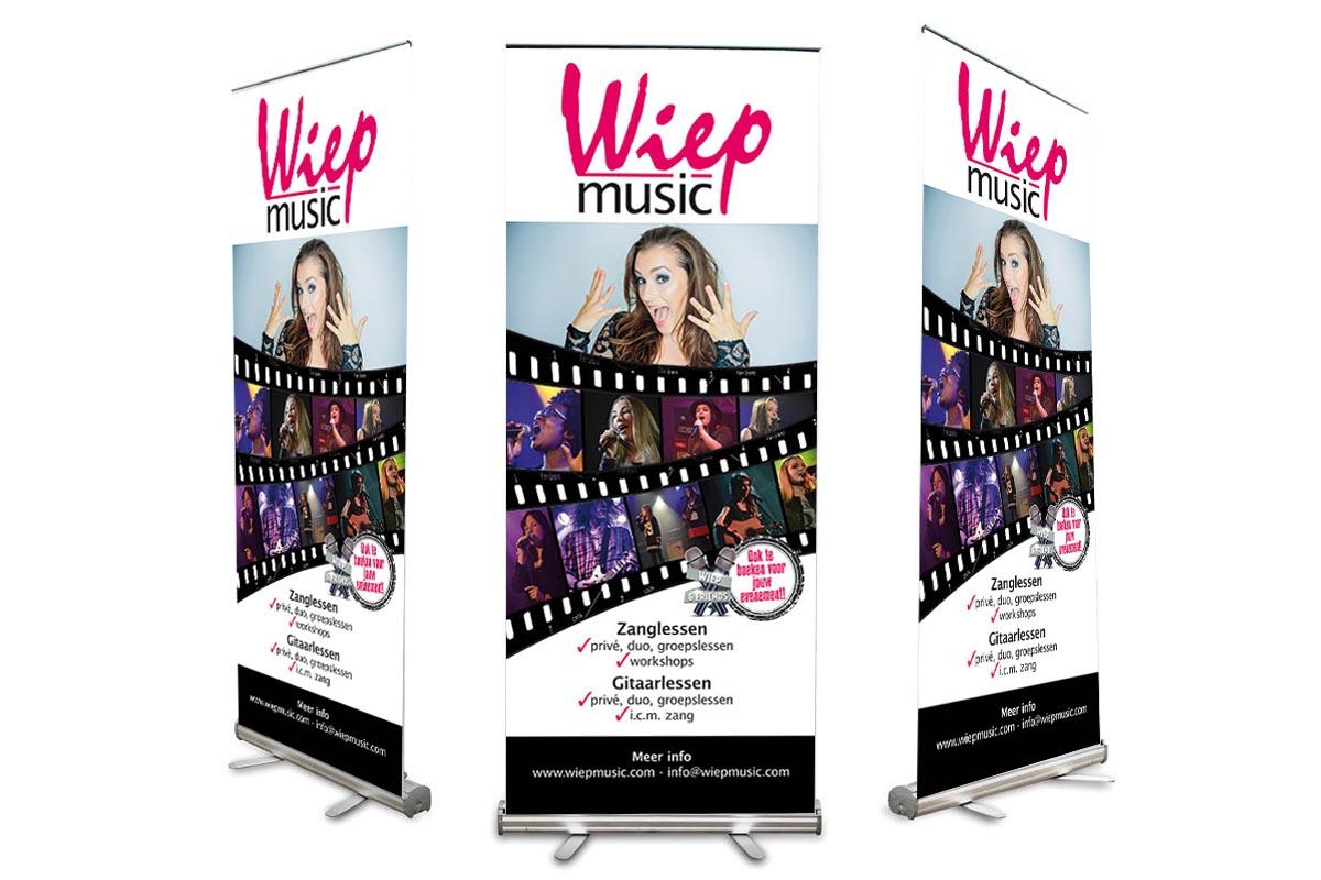 Roll-up banner Wiep Music