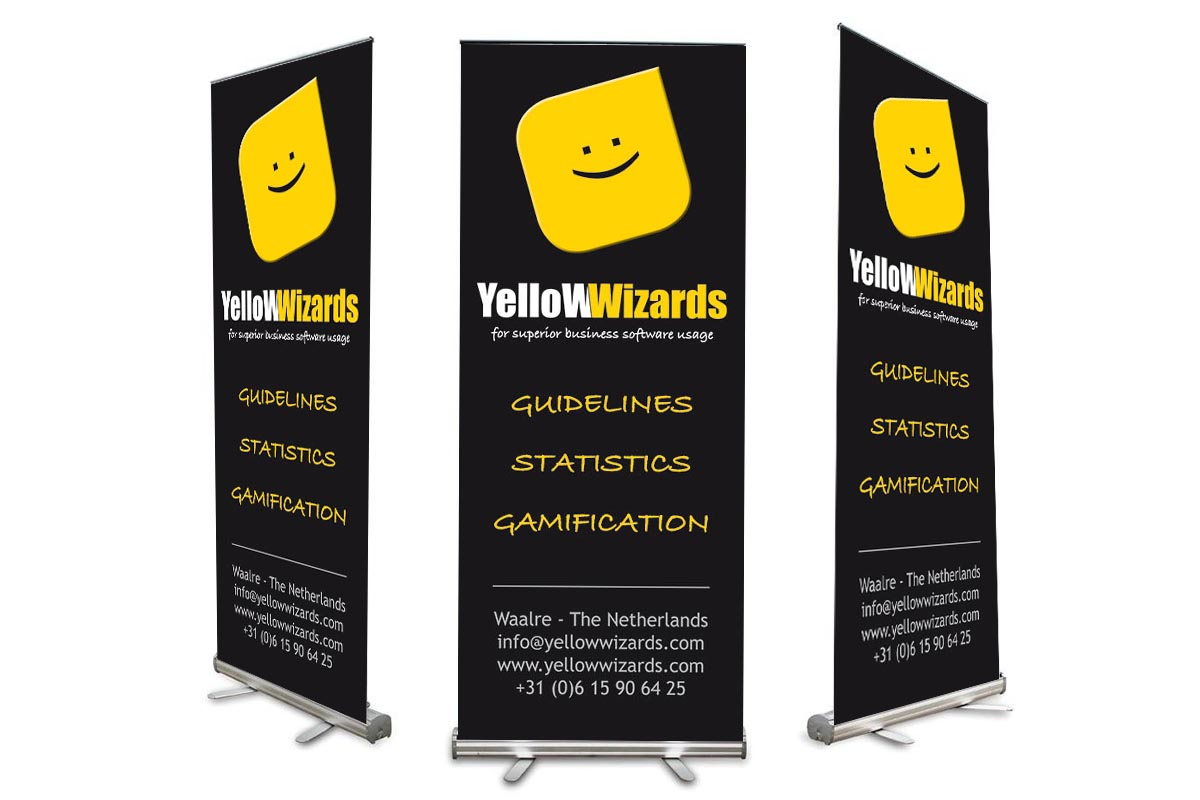 Roll-up banner Yellow Wizards
