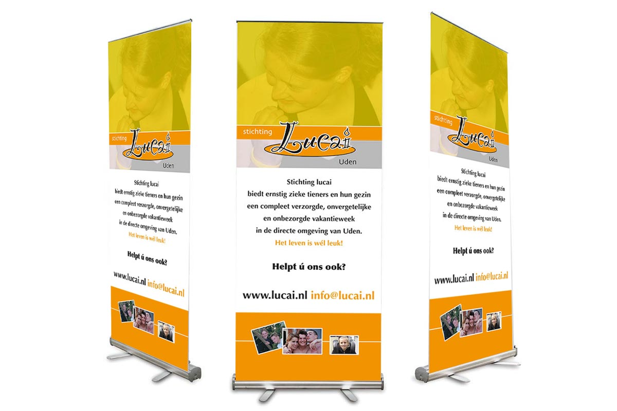 Roll-up banner stichting Lucai