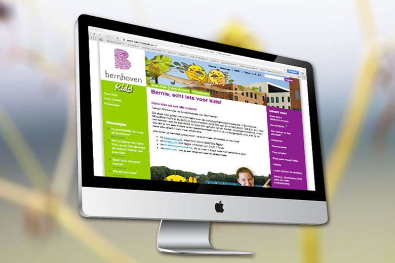 Bernhoven Kids website