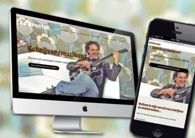 Website van muzikant Ad Grooten