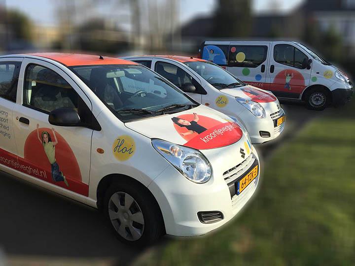 Autobelettering in Zeeland (NB) bij jjoH
