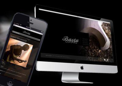 Website van gitaarbouwer Basta
