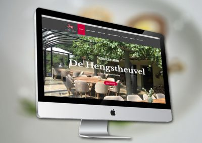Website van kookstudio de Hengstheuvel Uden