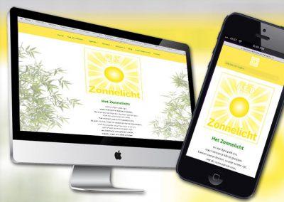 Website van Het Zonnelicht