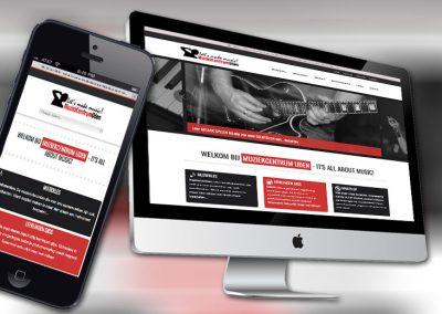Website van Muziekcentrum Uden