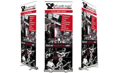 roll-up banners voor muzikanten en bands