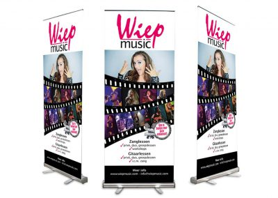 Roll-up banner Wiep Music