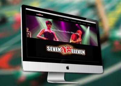 Website van funkband Seven Eleven