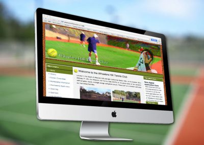 Website van tennisclub Wheelershill
