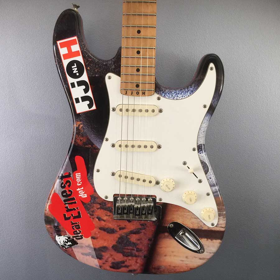 Stratocaster guitar wrapping voorkant